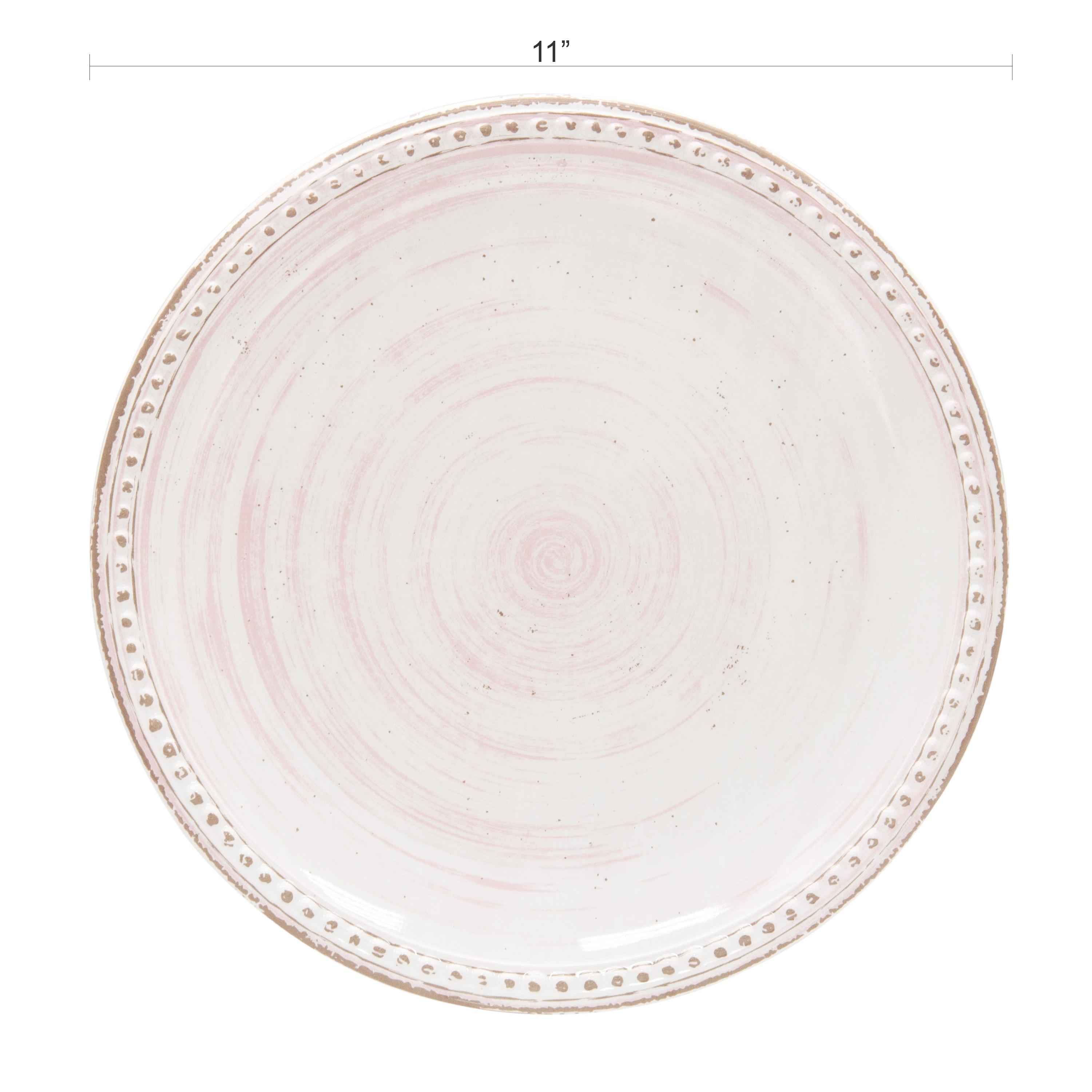 French Country Plate & Bowl Sets, Pink, 12-piece set slideshow image 6