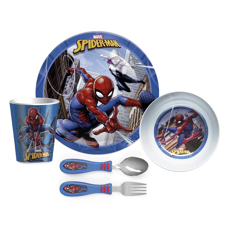 Marvel Comics Dinnerware Set, Spider-Man, 5-piece set slideshow image 2