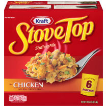 Kraft Stove Top Chicken Stuffing Mix 6-8 oz Pouches