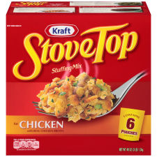 Kraft Stove Top Stuffing Mix for Chicken, 6 – 8 oz Pouches