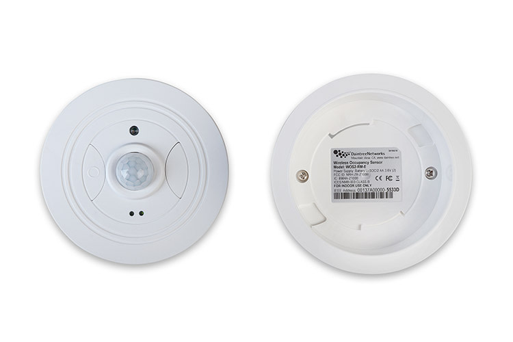 Front and back view of WOS2 sensor
