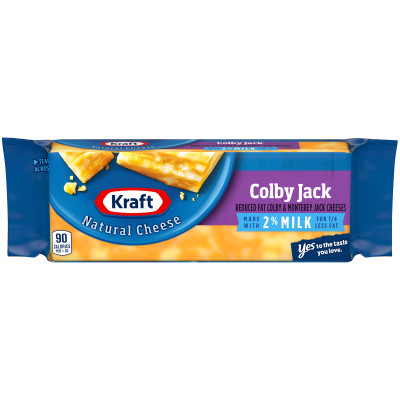 Kraft Natural Colby Jack 2% Milk Cheese Block 7 oz Wrapper