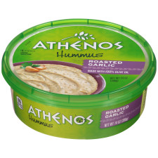 Athenos Roasted Garlic Hummus 14 oz Tub