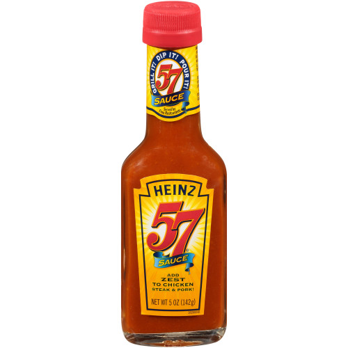 HEINZ 57 Sauce Bottle, 5 oz. Bottle (Pack of 24)