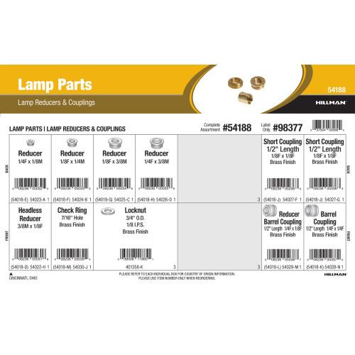 Lamp Parts Assortment (Lamp Reducers & Couplings)