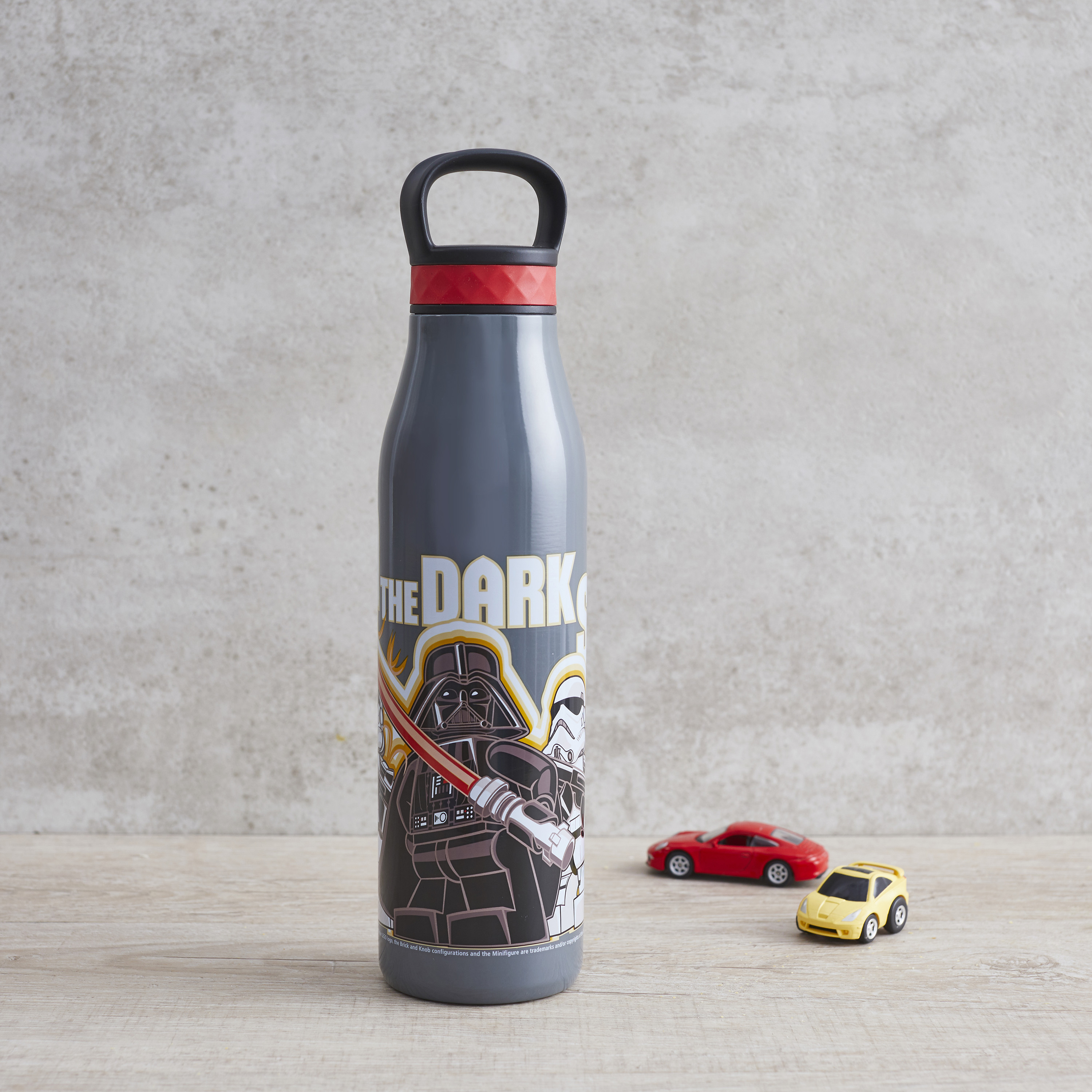 Lego Star Wars 20 ounce Stainless Steel Vacuum Insulated Water Bottle, Darth Vader and Stormtroopers slideshow image 3