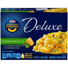 Kraft Deluxe Cheddar Broccoli Macaroni & Cheese Dinner 11.6 oz Box