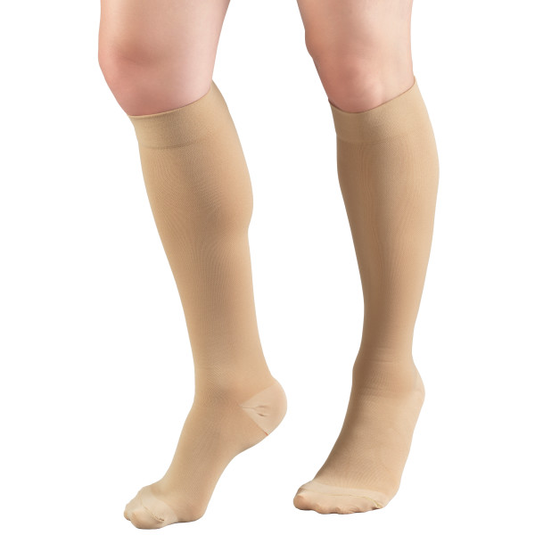 HMNA 9808 Compression Stockings, Regular 15-20 mmHg, Below Knee BK, Men or Women, Closed Toe