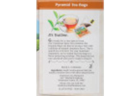 Right side of Charleston Tea Cinnamon Spice Tea box