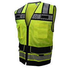 Radians SV66B HEAVY DUTY TWO-TONE ENGINEER Class 2 Solid/Mesh Safety Vest