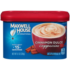 Maxwell House International Cinnamon Dulce Cappuccino Beverage Mix, 9.1 oz Canister