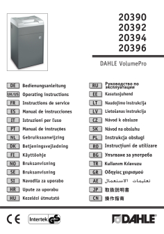 Dahle High Capacity Shredders User Guide