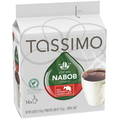 Tassimo Nabob 100% Colombian Coffee Single Serve T-Discs