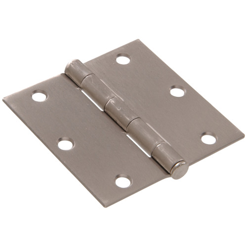 Hardware Essentials Residential Door Hinges with Removable Pin Satin Nickel 3-1/2