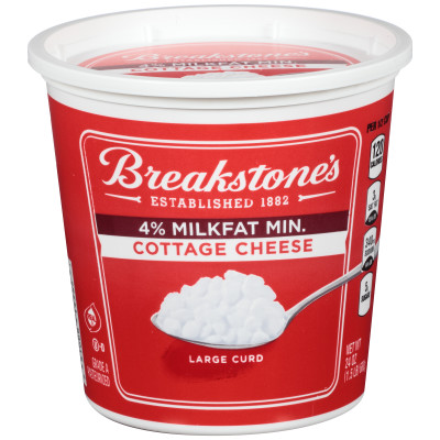 Breakstone's Large Curd 4% Milk fat Min Cottage Cheese 24 oz Tub