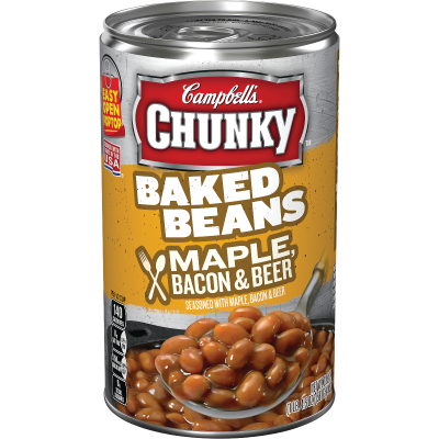 Baked Beans Seasoned with Maple, Bacon, & Beer