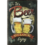 "Aluminum It's Beer O'clock Sign, 12"" x 18"""