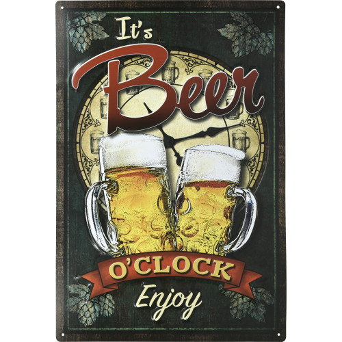 Aluminum It's Beer O'clock Sign, 12