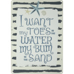 "Toes in the Water Novelty Sign (10"" x 14"")"