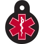 Small Circle Medical ID Quick-Tag