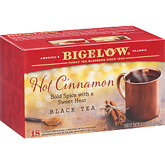 Hot Cinnamon Black Tea - Case of 6 boxes - total of 108 teabags
