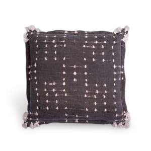 Meteore - Printed Pillow with Pompoms