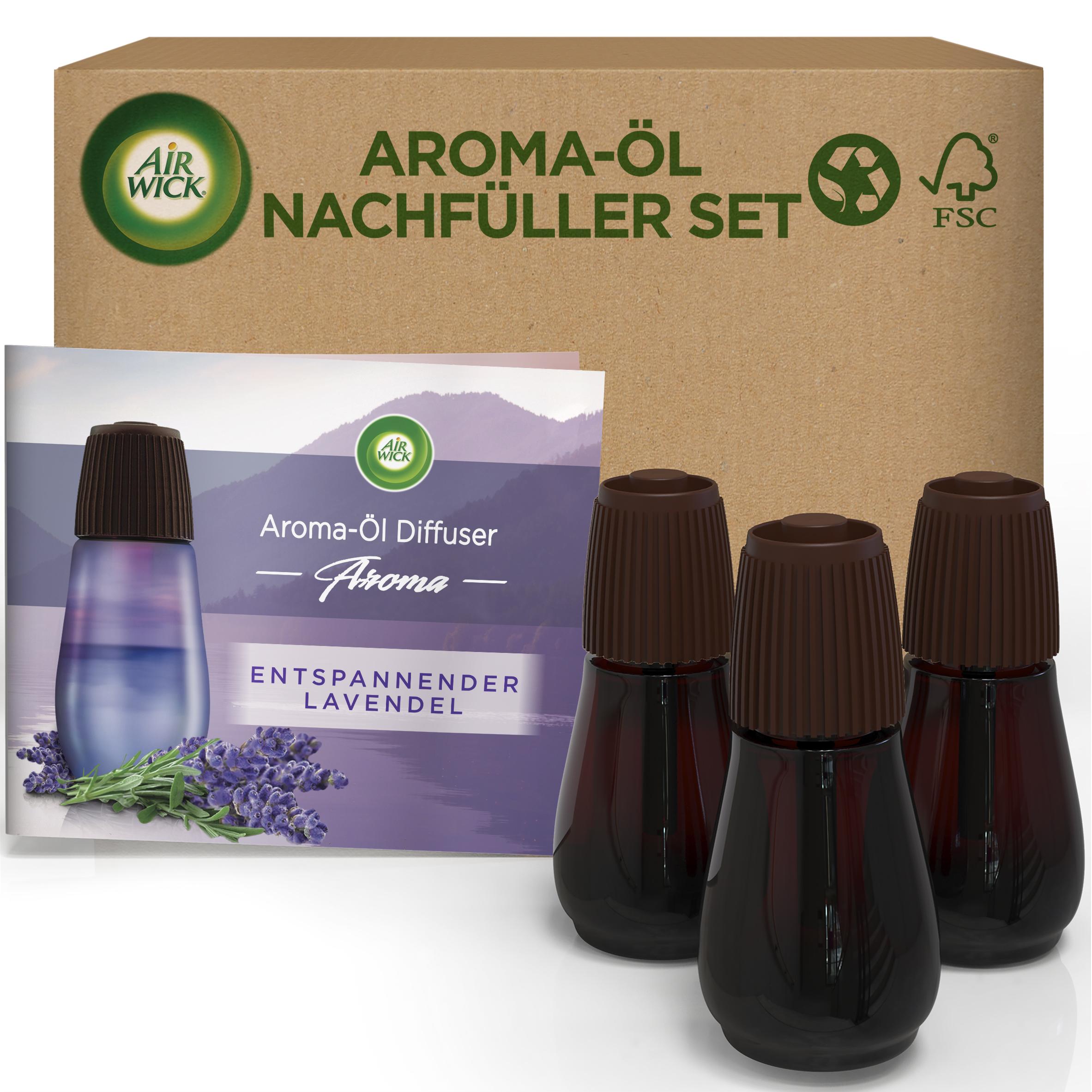 Air Wick Aroma-Öl Diffuser eCom Nachfüller-Set Entspannender Lavendel