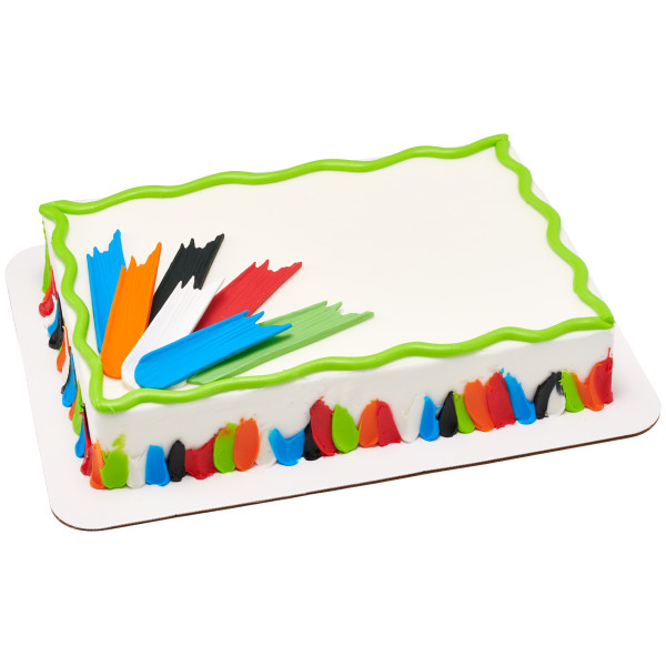 Primary Brushstrokes Sweet Décor™ Edible Decorations