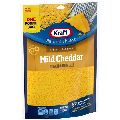 Kraft Mild Cheddar Finely Shredded Natural Cheese 16 oz Pouch