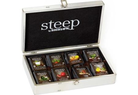steep by Bigelow Aviator Tea Chest - total of 64 tea bags