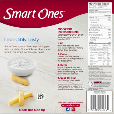 Smart Ones Smart Creations Chicken Strips & Fries 4.72 oz Box