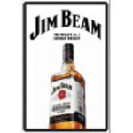 Aluminum Jim Beam Sign 12x18in