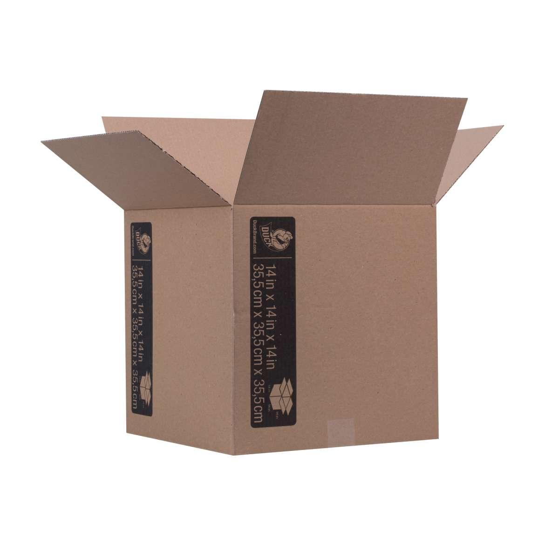 Duck® Brand Kraft Box - Brown, 14 in. x 14 in. x 14 in. Image