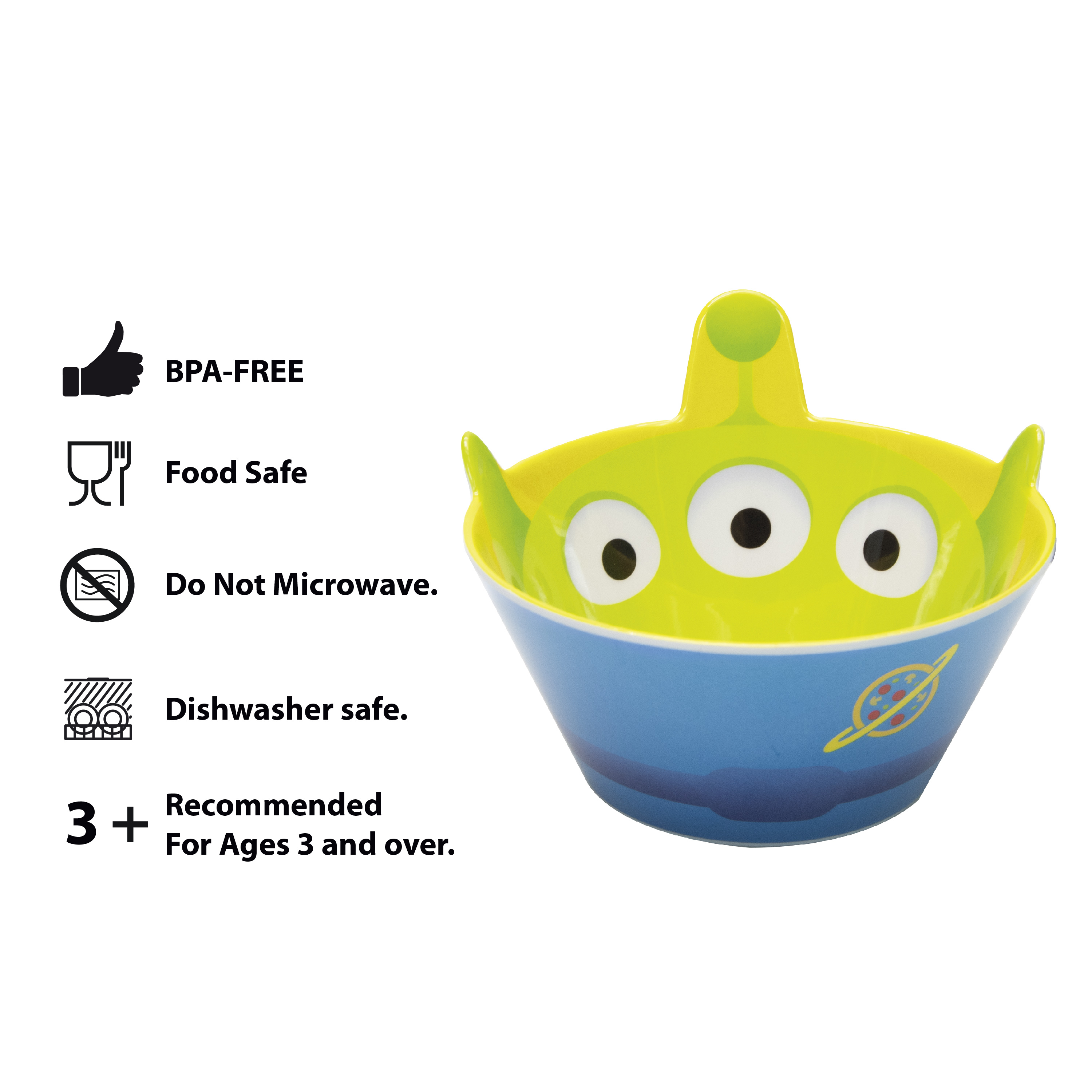 Disney and Pixar Plate and Bowl Set, Aliens, 2-piece set slideshow image 9
