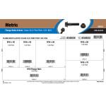 Class 10.9 Metric Flange Bolts & Nuts Assortment (M16-1.50 Fine Pitch)