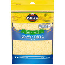 Polly-O Low Moisture Whole Milk Finely Shredded Mozzarella 8 oz Bag