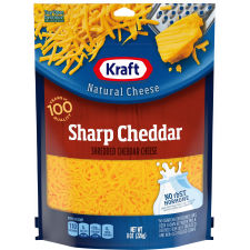 Kraft Shredded Sharp Cheddar Natural Cheese 8 oz Pouch