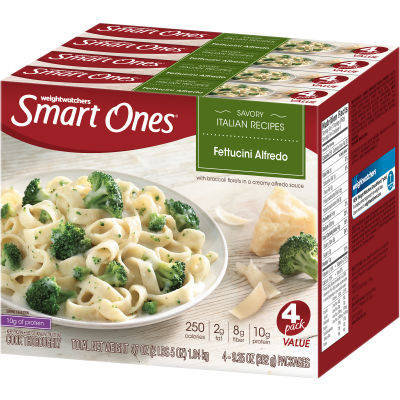 Smart Ones Savory Italian Recipes Fettuccine Alfredo 4 - 9.25 oz Boxes