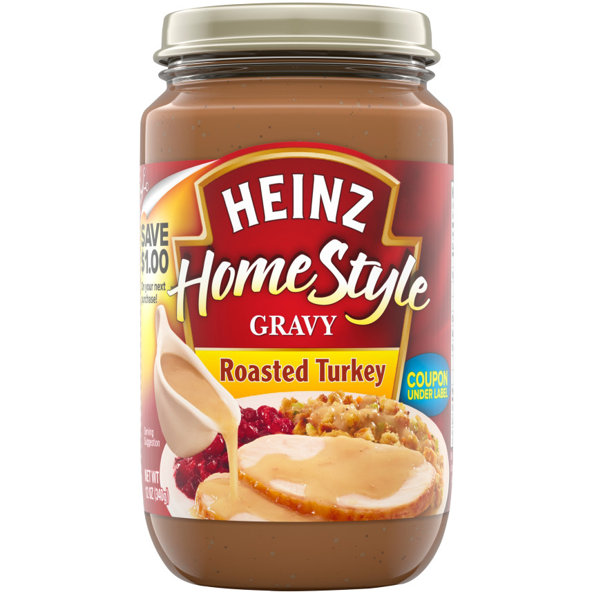Heinz Home-Style Roasted Turkey Gravy, 12 oz Jar image