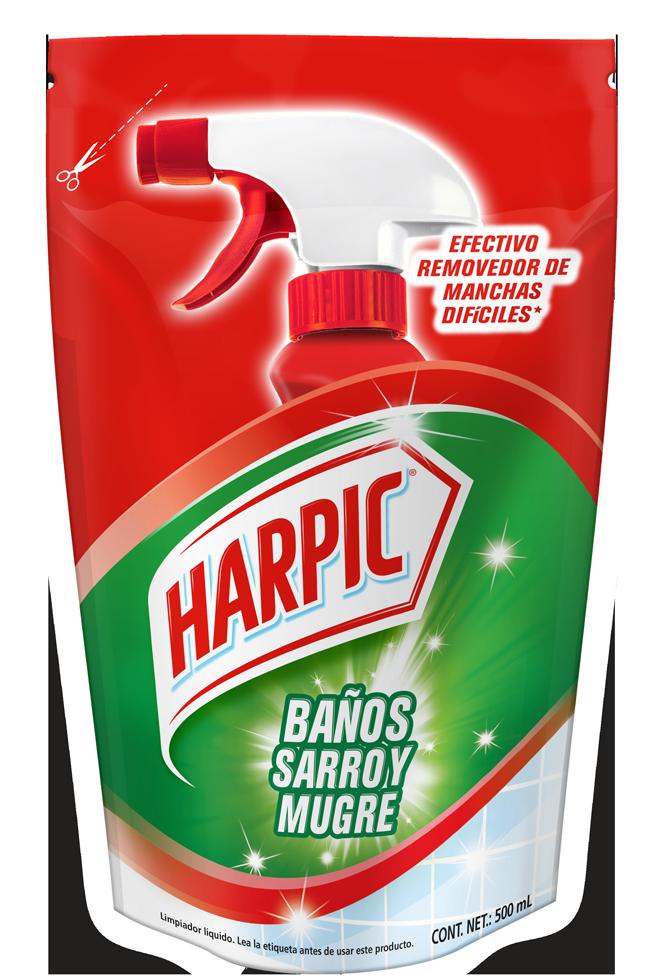 Harpic® BAÑOS SARRO Y MUGRE Doypack, 500ml