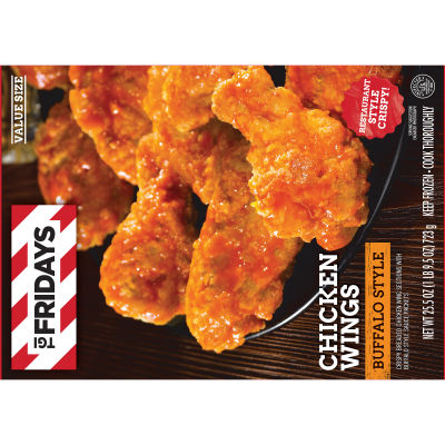 TGI Friday's Crispy Buffalo Style Chicken Wings 25.5 oz Box