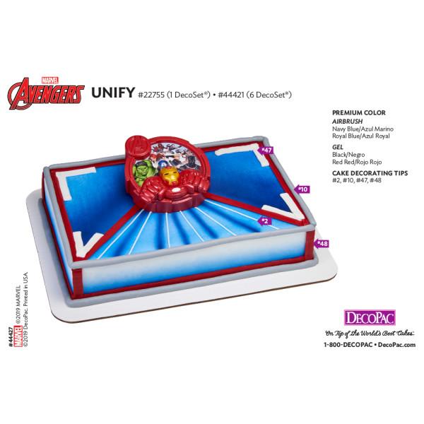 MARVEL Avengers Unify Cake Decorating Instruction Card