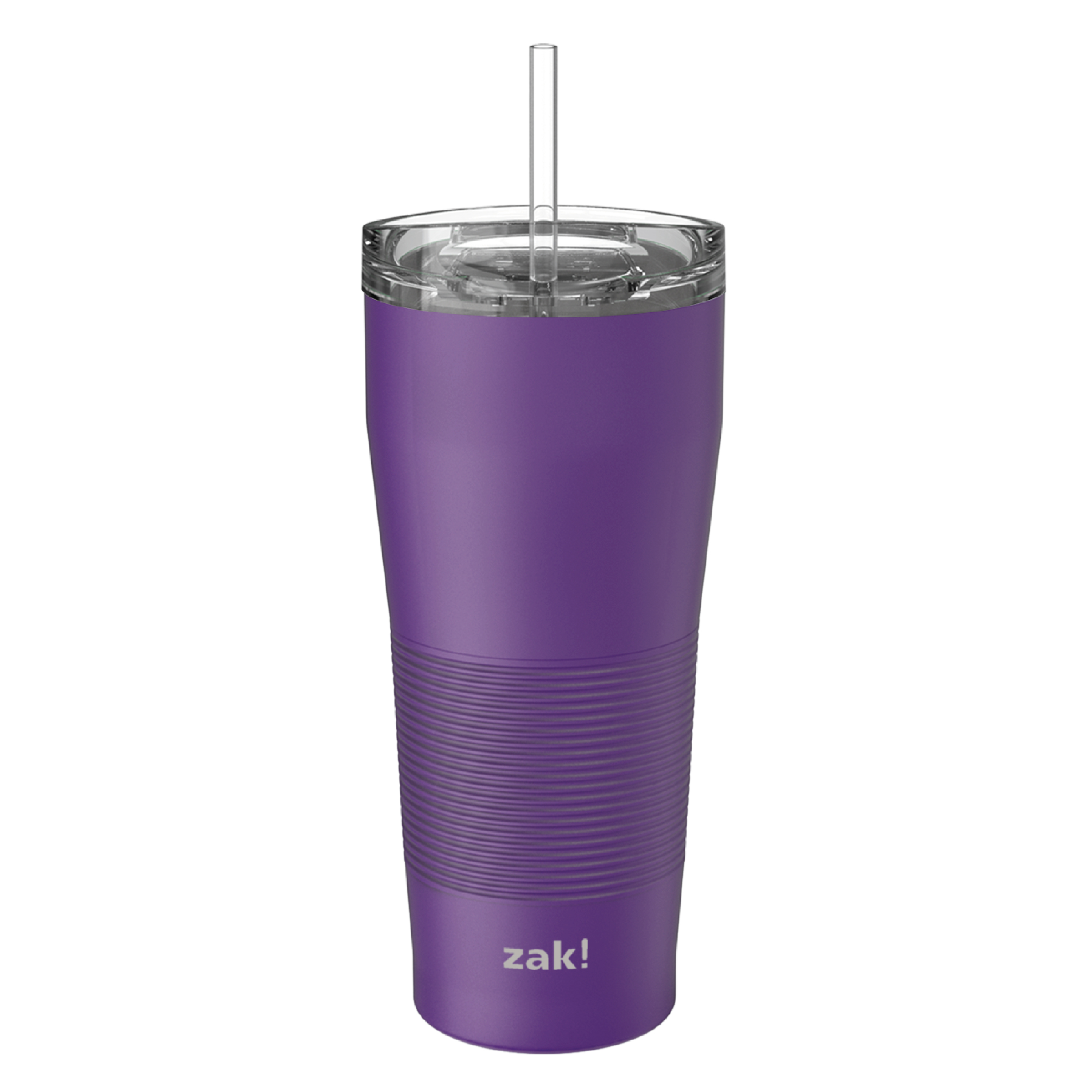 Lynden 28 ounce Stainless Steel Vacuum Insulated Tumbler with Straw, Viola slideshow image 3