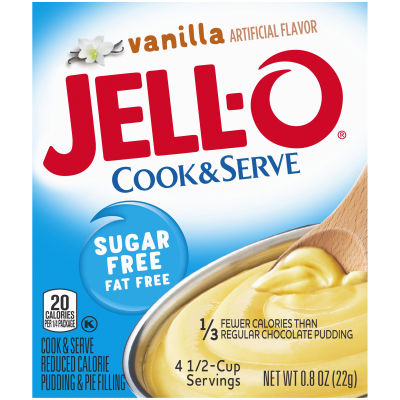 Jell-O Instant Sugar-Free Fat-Free Vanilla Pudding & Pie Filling 0.8 oz Box