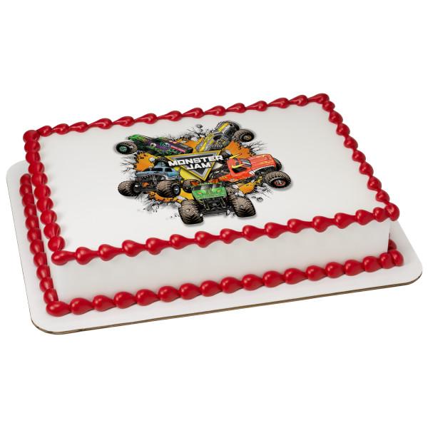 Monster Jam® Monster Trucks PhotoCake® Edible Image®