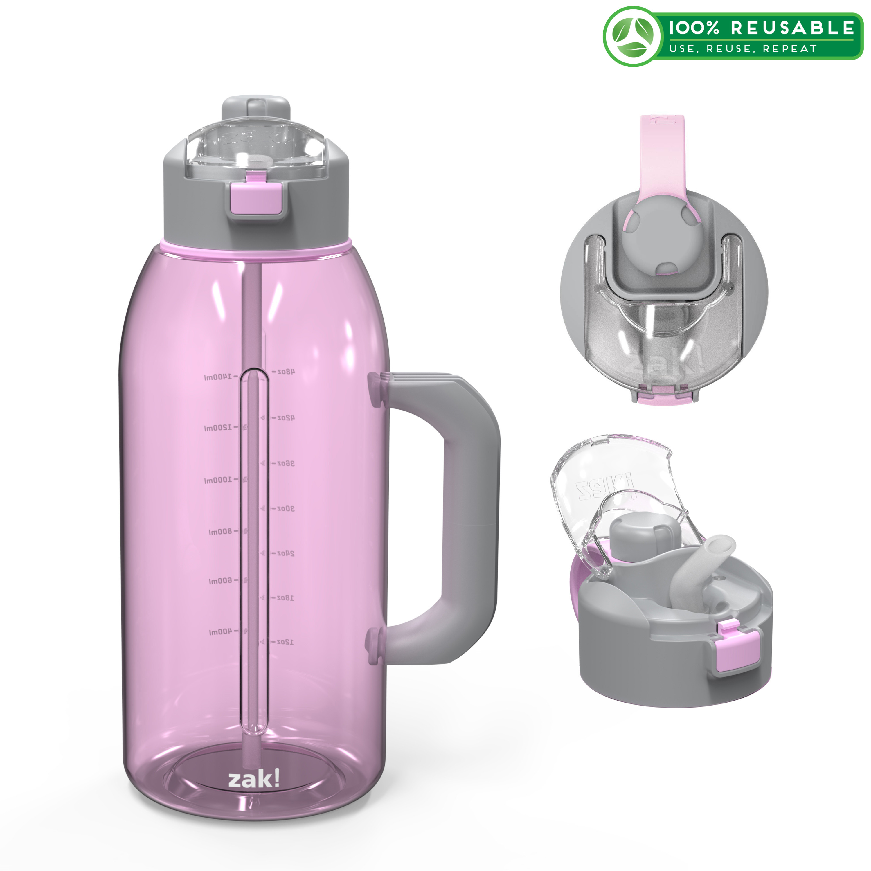 Genesis 64 ounce Water Bottle, Lilac slideshow image 1