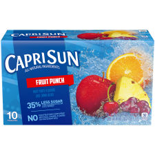 Capri Sun Fruit Punch Ready-to-Drink Soft Drink, 10 Pouches