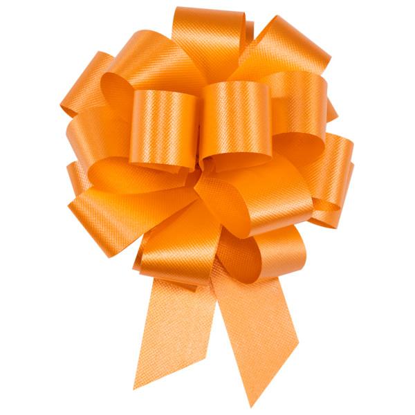 "4"" Orange Flora Satin Perfect Bow"