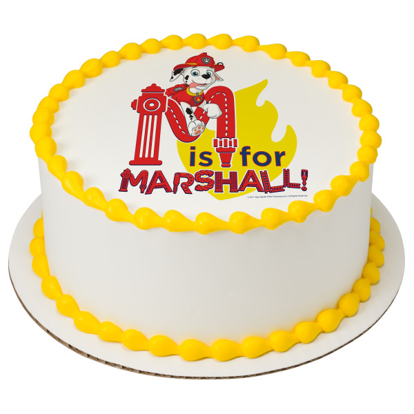 PAW Patrol™ M is for Marshall PhotoCake® Image