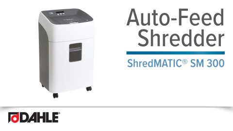 Dahle ShredMATIC® SM 300 Auto-Feed Shredder Video